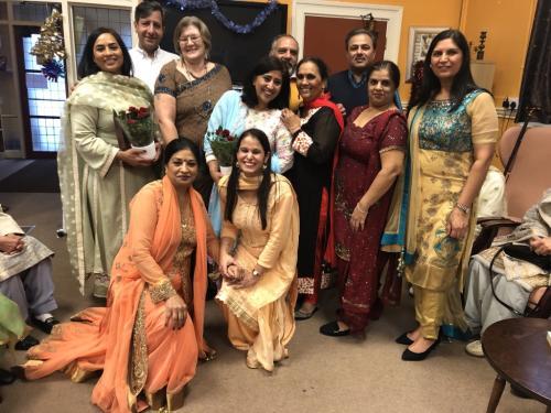 Sandhu Family and staff members